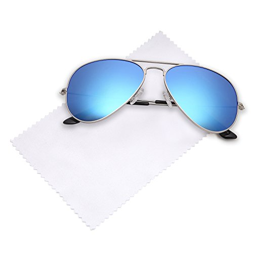 JETPAL Premium Classic Aviator UV400 Sunglasses w Flash Mirror Lenses - Choose From Adult or Kids Sizes
