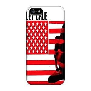 Iphone 5/5s IRZ10092KHLF Custom Colorful Motley Crue Skin Best Hard Phone Cases -JasonPelletier