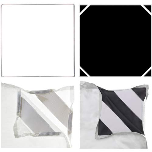 Pro Panel Fabric Kit - includes: 48x48 Aluminum Frame, 1/2 Diffusion, Black/White Panels, Duffle Case