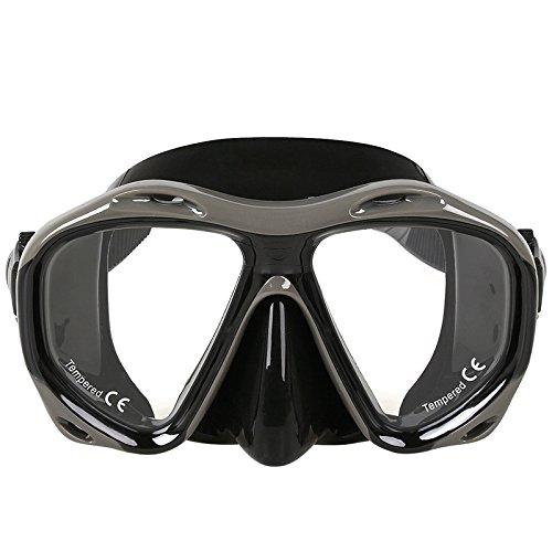 Buceo máscara Snorkel hipermetropía miopía gafas, hipermetropía miopía corrección lente Bifocal buceo diferente graduación óptica para cada ojo: Amazon.es: ...