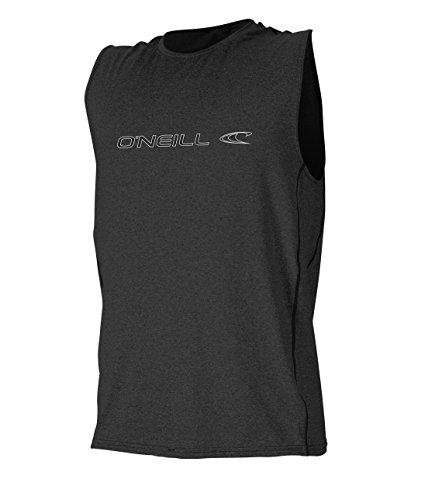 Sleeveless Rash Guard - O'Neill Men's Hybrid UPF 50+ Sleeveless Sun Shirt, Black, Large