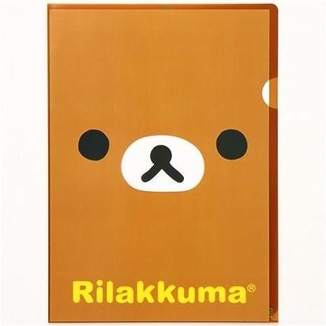 Carpeta plástico kawaii A4 oso Rilakkuma de San-X: Amazon.es: Juguetes y juegos