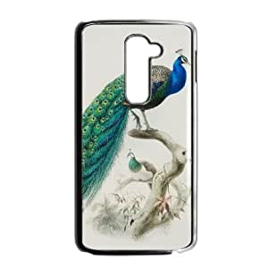 LG G2 Phone Cases Black Vintage Collage Peacock FAL983309