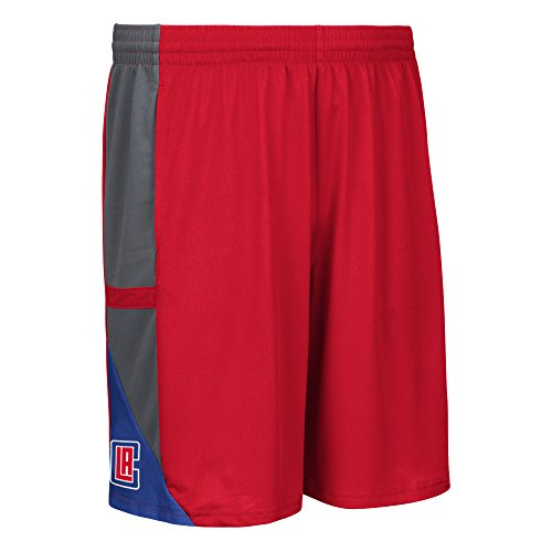 NBA Los Angeles Clippers Men's Tip-Off Mesh Shorts, Large, Red