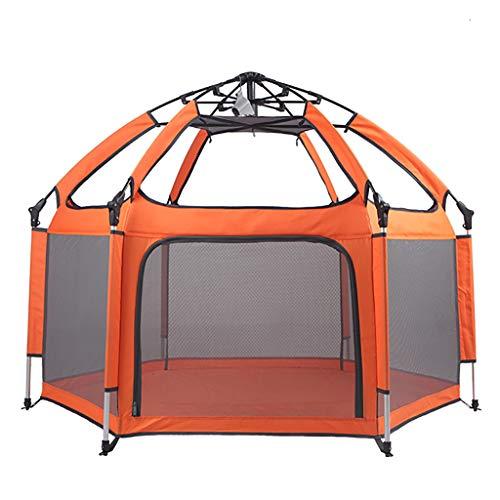 WYQ Tienda de campaña portátil Parque Infantil, Interior Anti-Mosquitos al Aire Libre Prevenir Basard Playard, Orange...