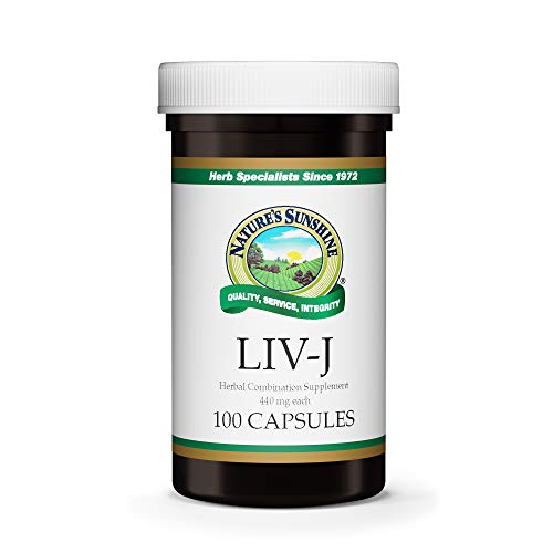Nature's Sunshine LIV-J, 100 Capsules | Herbal Blend Supports Digestion by Nourishing The Liver and Spleen and May Help to Cleanse The Digestive System