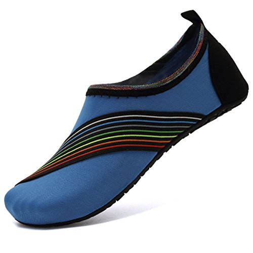 VIFUUR Water Sports Shoes Barefoot Quick-Dry Aqua Yoga Socks Slip-on for Men Women Kids Xidaiblue
