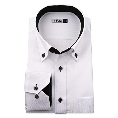 楽しませる正確さ乳製品FLiC ワイシャツ メンズ 長袖 形態安定 襟高 flm-l09