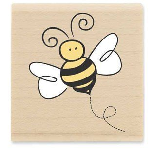 Little Bumblebee Rubber Stamp