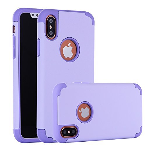 iPhone X Case, CaseHQ Slim Silicone TPU+Hard PC 2in1 Dual Protective Bumper Shock-Absorbing Scratch-Resistant Rugged Drop Protection Cover For iPhone 10/X 5.8