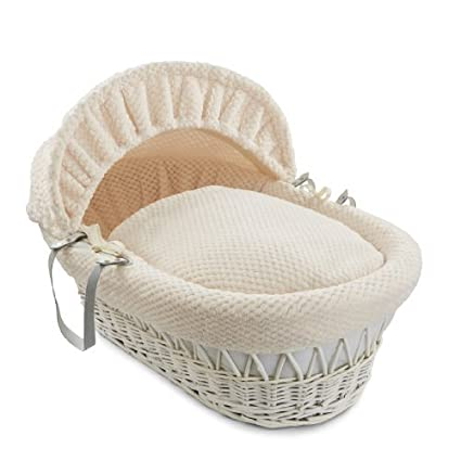 BabyPrem Pack of 2 Fitted Cotton Moses Basket Sheets Cream