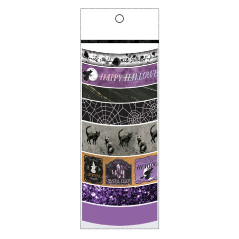 Halloween Purple Washi Tape Assortment - 8 Spools