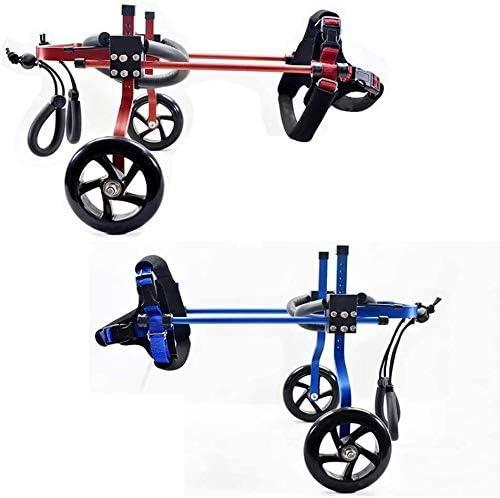 ペットトロリー、ペット車椅子スクーター無効無効麻痺後脚車アルミ合金ペット車の座席(色:ミディアム  B)を回復する簡単に調整可能