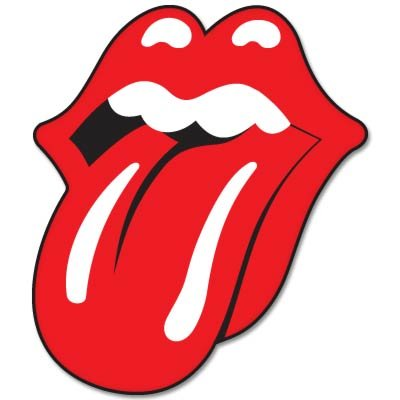 Rolling Stones Tongue Vynil Car Sticker Decal - 2.5