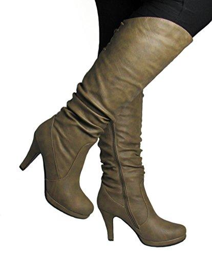 Moda Win 10 M Top US 40 Boots Womens Cognac D ZqWOdPU