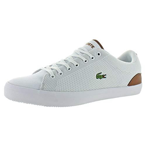 Lacoste Men's Lerond Sneaker White tan Canvas 7 Medium ()