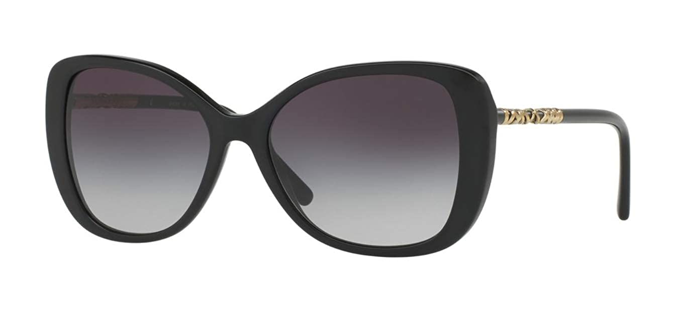 67599ecd90a8 Burberry Women's BE4238F Sunglasses Black/Gray Gradient 57mm at Amazon  Men's Clothing store: