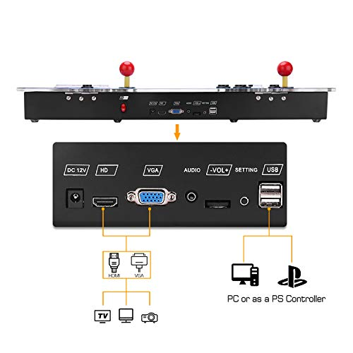 Spmywin 3D Pandora Box Arcade Video Game Console 1080P Game System Supports Alphabet Search Function User Add Games Function Advanced CPU by Spmywin (Image #6)