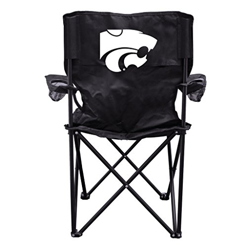 - VictoryStore Outdoor Camping Chair - Kansas State University Wildcats Black Folding Camping Chair with Carry B