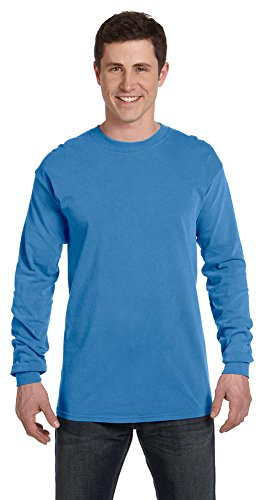 Comfort Colors Ringspun Garment-Dyed Long-Sleeve T-Shirt, Small, ROYAL CARIBE
