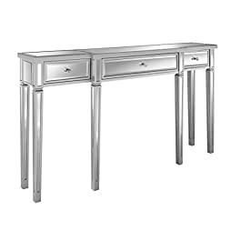 Pulaski DS-2255-700 Damon Mirrored Console Table, 59.0″ L x 12.25″ W x 33.0″ H,