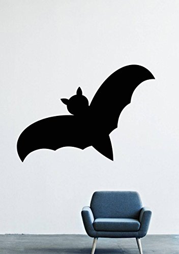 Halloween Wall Decals – Vinyl Halloween Stickers Men Kids – Horror Stickers Car Truck Mouse Animal Silhouette Black Undead LM1521 ()