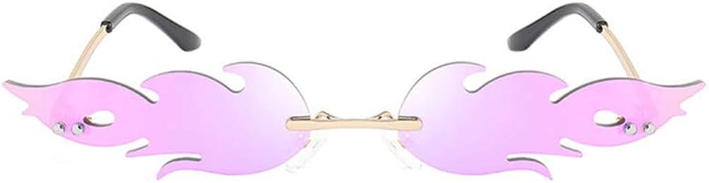 STOBOK Lunettes de Feu Flamme 1Pc 16 X 14 X 2 Rouge 7 Cm Lunettes de Soleil sans Monture de Flamme Femmes Hommes Lunettes de Soleil Lunettes de F/ête Lunettes de Soleil en M/étal Clair Nuances