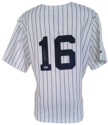 Whitey Ford Signed Jersey - Majestic Pinstripe XL - PSA/DNA Certified - Autographed MLB Jerseys Autographed Majestic Authentic Pinstripe Jersey