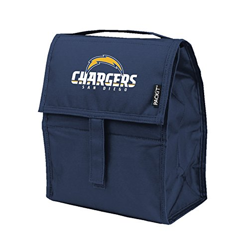 Kolder NFL San Diego Chargers Freezable Lunch Bag, Large, Blue (Box Lunch Diego Chargers San)
