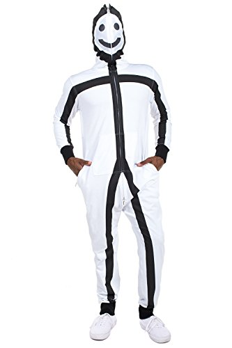 Super Scary Costumes For Halloween (Men's Stick Figure Costume - Halloween Stick Man Costume: Medium)