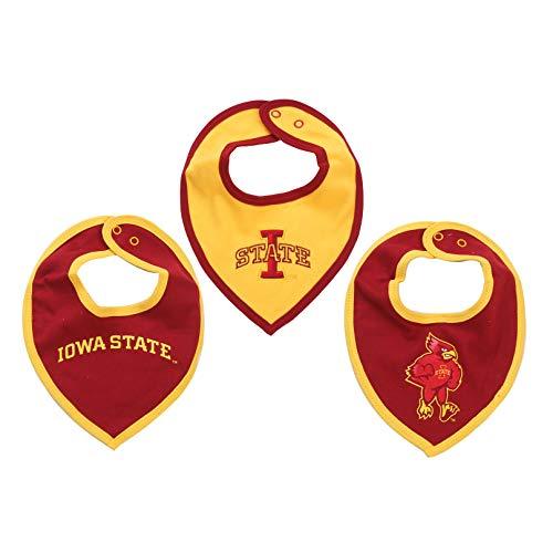 FAST ASLEEP NCAA Iowa State Cyclones Bib Set (3 Pcs) for Baby Boy or Girl