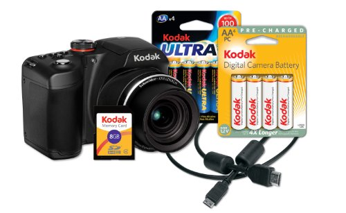 Kodak Easyshare Camera Bundle (Kodak EasyShare Z5010 Digital Camera Bundle with 21x Optical Zoom and HD Video Capture (Includes Rechargeable Batteries, HDMI Cable, 8 GB Memory)