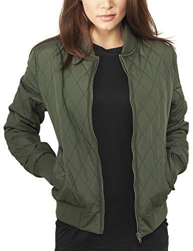 Olive Blouson Diamond Quilt Femme Ladies Urban Vert Jacket Classics Nylon EtYfzq