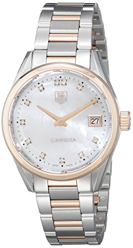 TAG Heuer Women's WAR1352.BD0779 Carrera Analog Display Swiss Quartz Two Tone Watch by TAG Heuer
