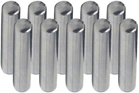 kesoto 10 St/ück 4mm Passstifte Zylinderstifte Spannstifte D/übelstifte aus Kohlenstoffstahl 15 mm H/öche 8-30mm Optional