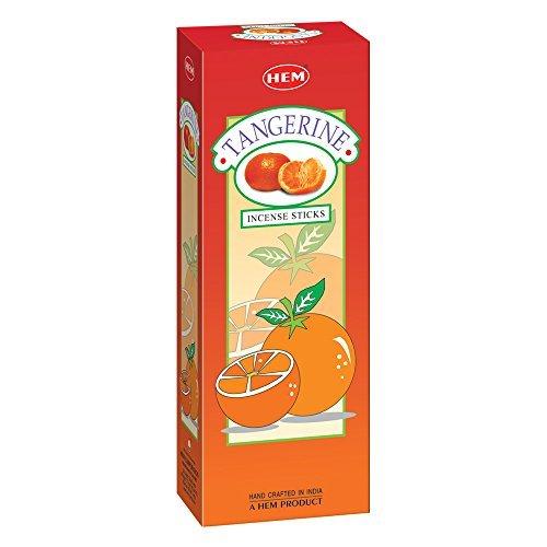 Tangerine - Box of Six 20 Stick Tubes - HEM Incense