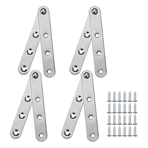 (Bluecell 4 Sets 360 Degree 4 Inches Stainless Steel Door Pivot Hinge with Screws (4IN))
