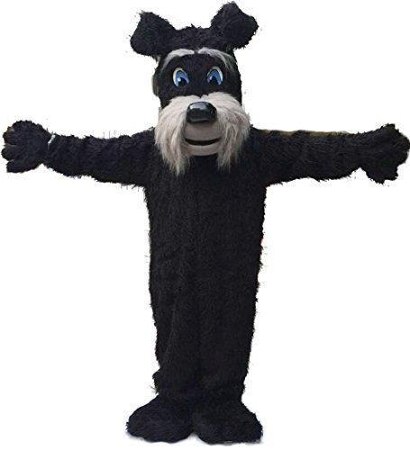 Fun Black Schnauzer Terrier Dog Costume for Adults
