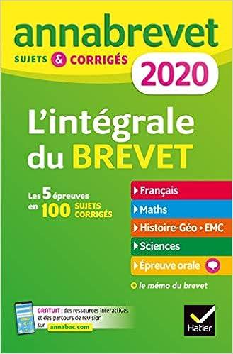 Amazon Fr Annales Du Brevet Annabrevet 2020 L Integrale 3e
