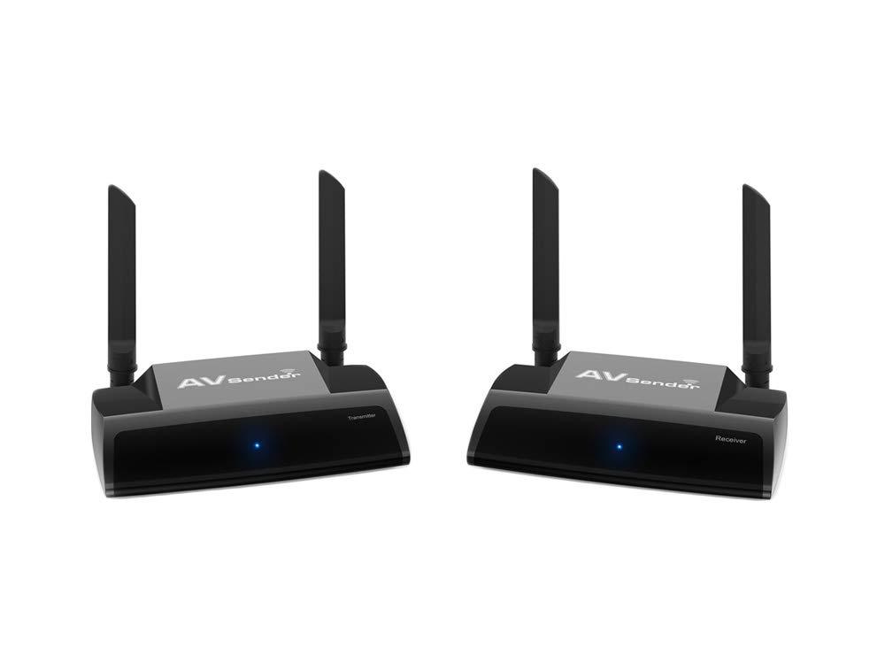 MIFO 映像無線転送キット 送受信機セット 無線HDMIエクステンダー WUXGA/3D映像/1080P対応 簡単接続 映像と音声を無線転送 受信機側リモコン操作可 B07L6GXH3S