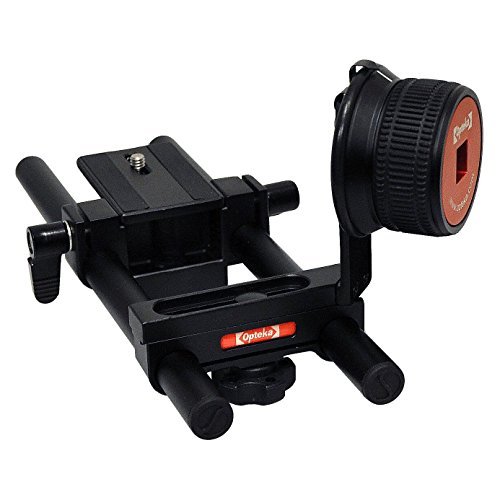 Opteka FF-240 Gearless Follow Focus Rig with 15mm Rail Kit for Digital SLR Cameras