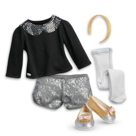 American Girl - Sparkle Spotlight Outfit for Dolls - Truly Me 2015, Brown
