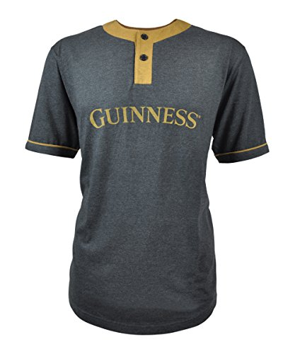 Baseball Guinness (Guinness Grey and Mustard Baseball Style Premium Tee (X-Large))