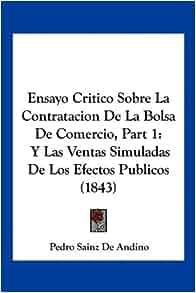 Sobre La Contratacion De La Bolsa De Comercio, Part 1: Y Las Ventas