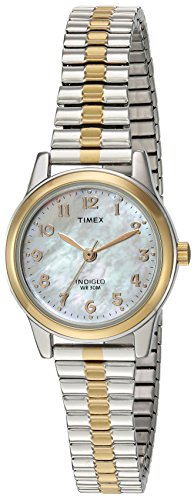 Timex Women's TW2P67200 Essex Avenue Two-Tone Extra Long Stainless Steel Expansion Band Watch
