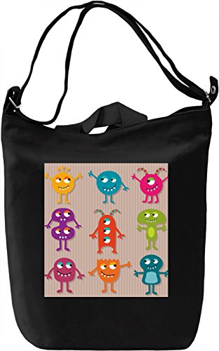 Cartoon Borsa Giornaliera Canvas Canvas Day Bag| 100% Premium Cotton Canvas| DTG Printing|