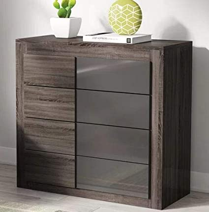 Amazon.com: Chester Drawers - Dark Sonoma Oak with Gray ...