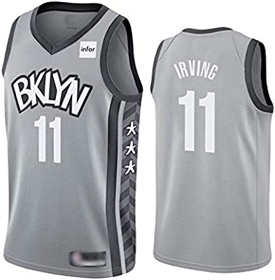 WOLFIRE WF Camiseta de Baloncesto para Hombre, NBA,Brooklyn Nets ...