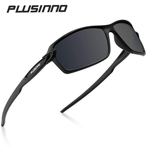 PLUSINNO Polarized Sports Sunglasses for Men Women, Ideal for Fishing Driving Running Cycling and Outdoor Sports, UV400 Protection