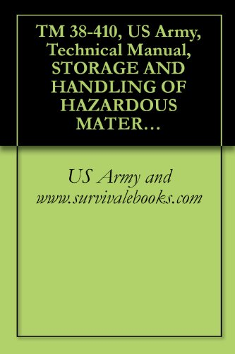 TM 38-410, US Army, Technical Manual, STORAGE AND HANDLING OF HAZARDOUS MATERIALS, 1999